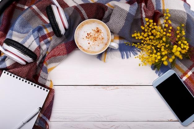 Cappucino de café quente