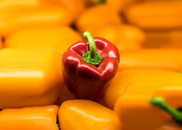 Capsicum vermelho em capsicum amarelo