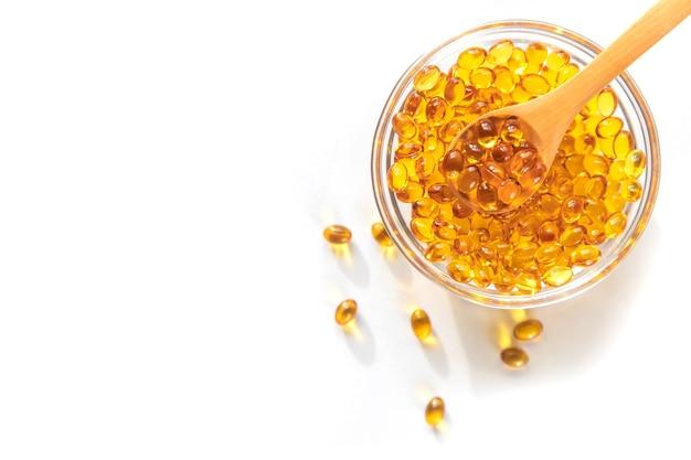 Cápsulas de vitamina d3. vitaminas de medicamentos e suplementos dietéticos.