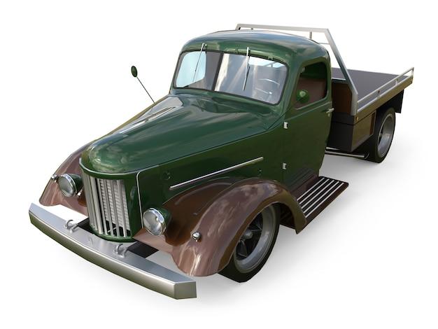 Captador restaurado antigo. pick-up no estilo de hot rod. renderização em 3d.