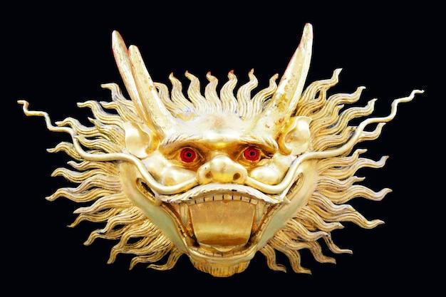 Cara de dragão de ouro