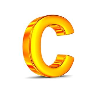 Caractere c em espaço em branco