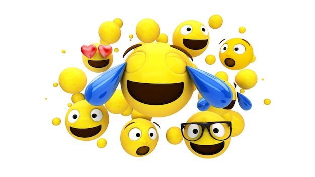 Caracteres amarelos flutuando