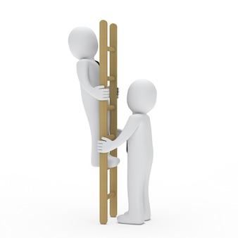 Caracteres de trabalho com uma escada