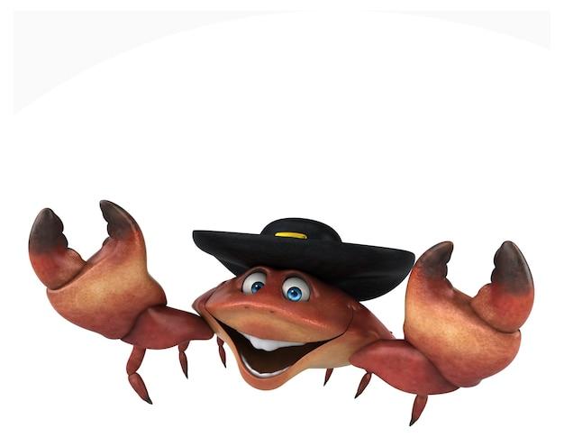 Caranguejo divertido - ilustração 3d