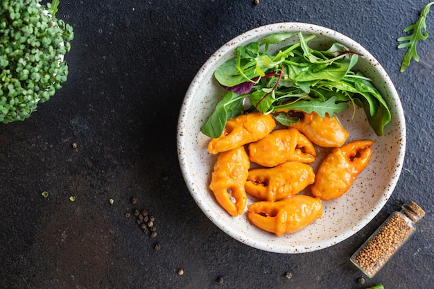 Caranguejo garras surimi caranguejo vara salada de frutos do mar lanche saudável