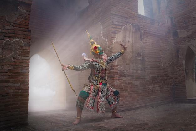 Caráter de ramayana thos-sa-kan no romance de ramayana.