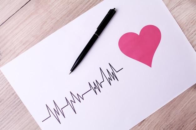 Cardiograma. o ecg mostra o batimento cardíaco