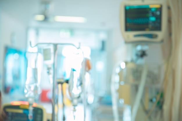 Cardiomonitoramento do paciente em palavra no hospital