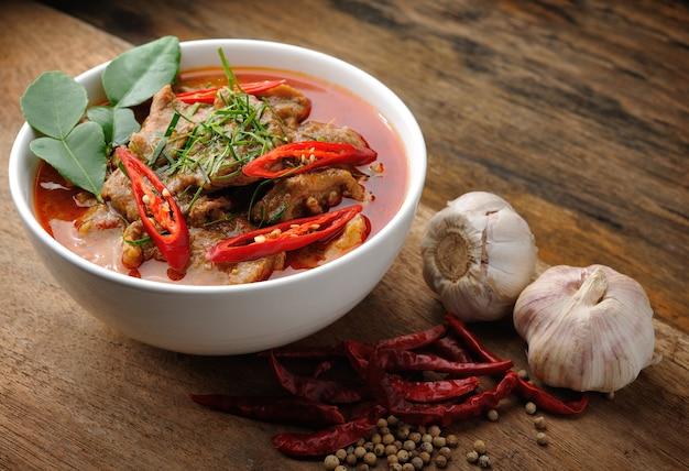 Caril tailandês delicioso do panang