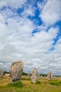Carnac pedras hdr foto