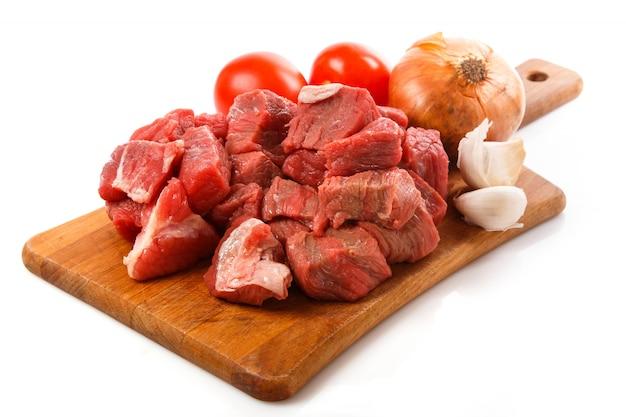Carne crua a bordo