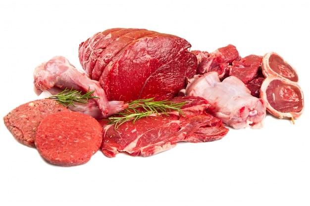 Carne crua da mistura