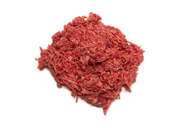Carne crua de carne picada