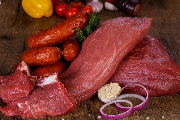 Carne de carne crua