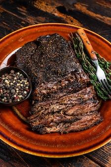 Carne de peito de bovino wagyu churrasco defumado