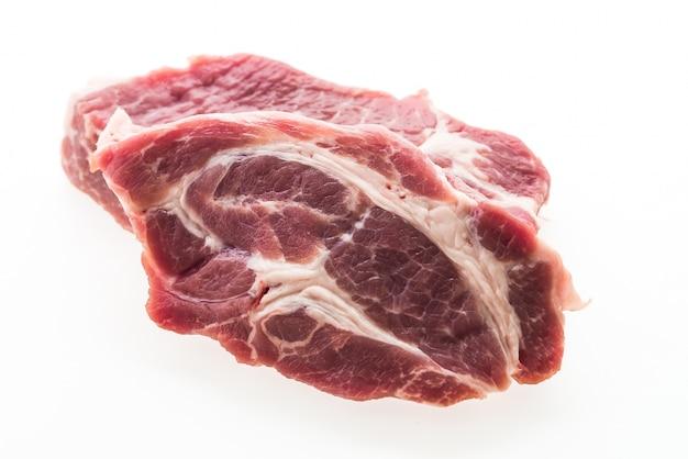 Carne de porco crua isolada