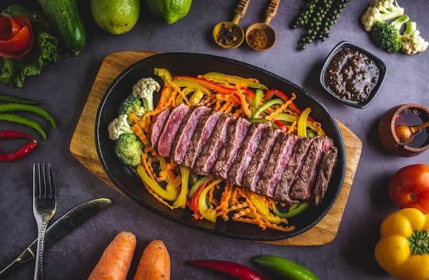 Carne de teppanyaki