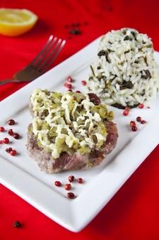 Carne e arroz