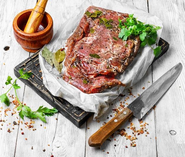 Carne preparada para carne seca