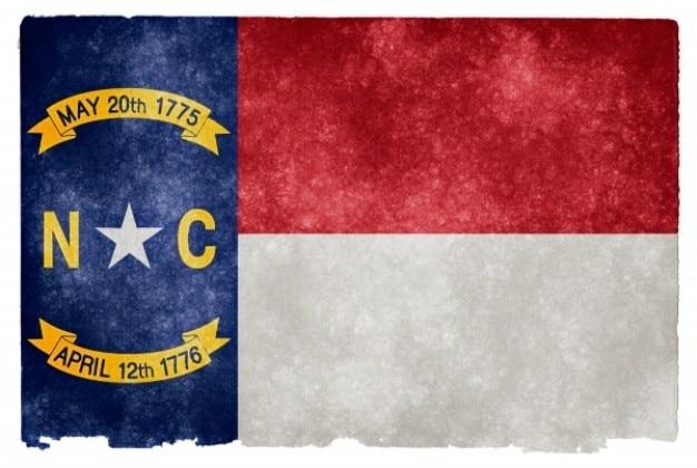 Carolina do norte grunge bandeira