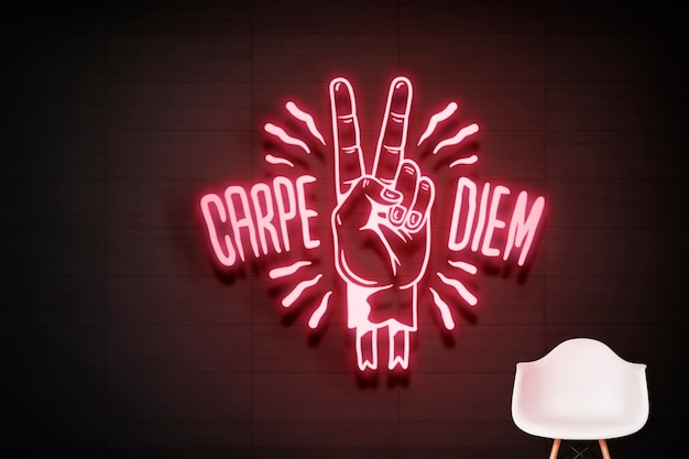 Carpe diem neon sign