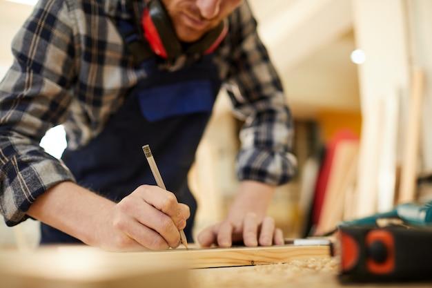 Carpenter drawing sketch