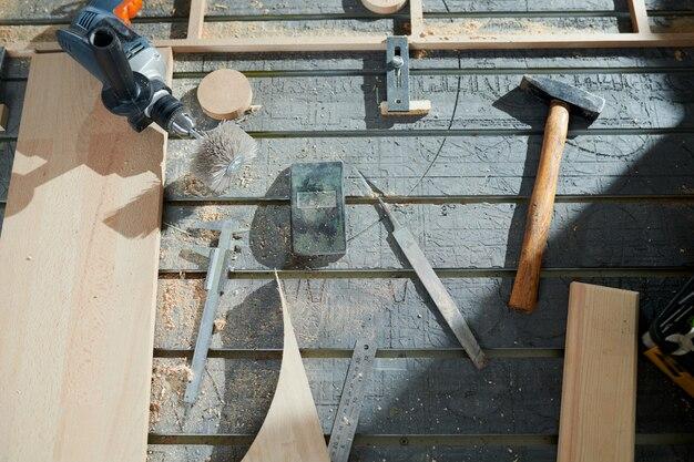 Carpinteiro local de trabalho