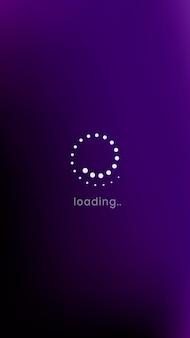 Carregando a tela do ícone do smartphone para o dispositivo de tecnologia