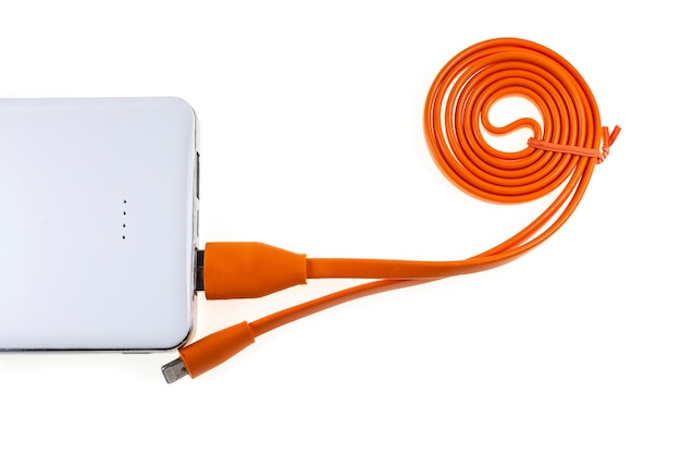 Carregar um telefone celular com um powerbank
