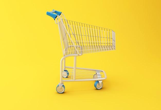 Carrinho de compras 3d