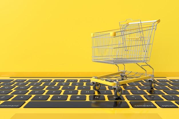 Carrinho de compras amarelo