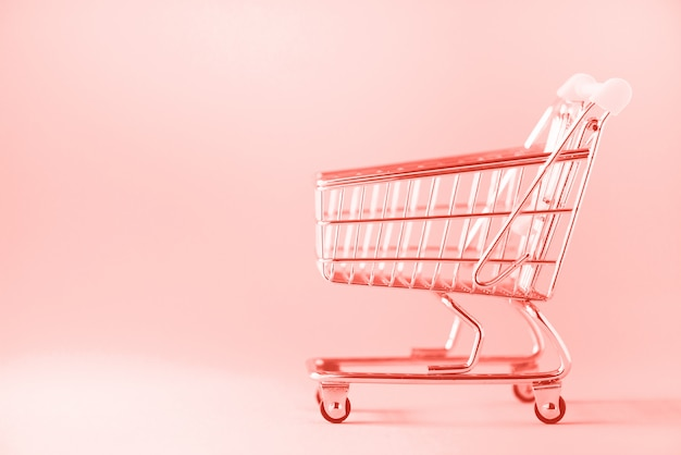 Carrinho de compras. carrinho de loja no supermercado