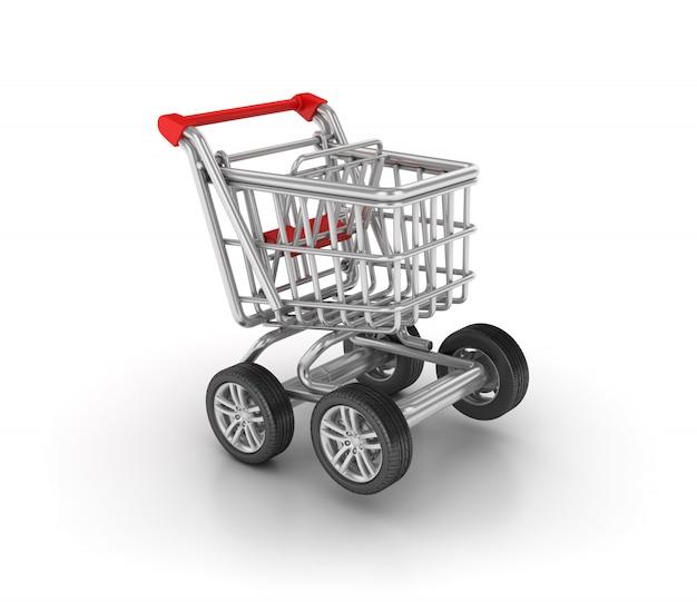 Carrinho de compras com rodas