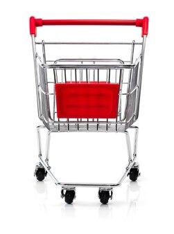 Carrinho de compras isolado em fundo branco