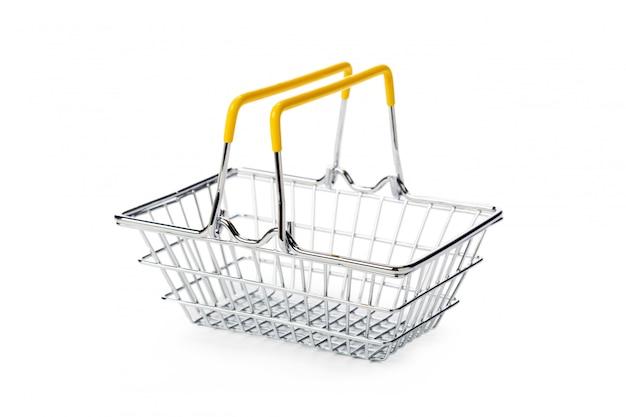 Carrinho de compras isolado no branco