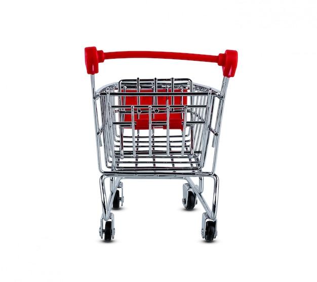 Carrinho de compras isolado no fundo branco