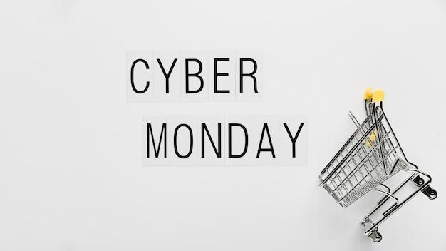 Carrinho de compras online na cyber segunda-feira
