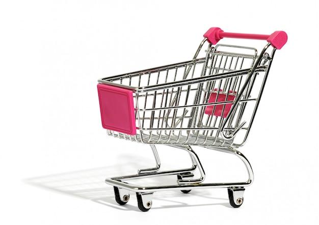 Carrinho de compras vazio em branco
