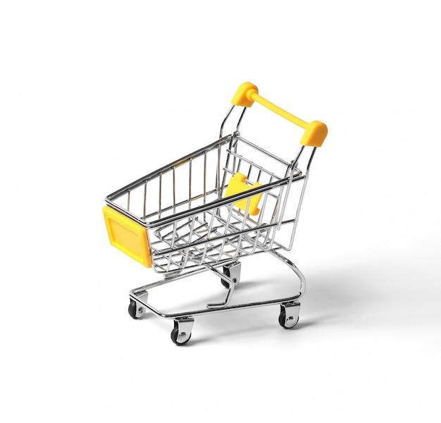 Carrinho de compras vazio isolado