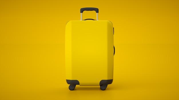 Carrinho de viagem amarelo