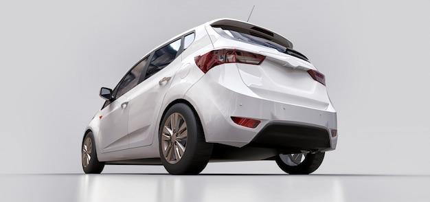 Carro branco da cidade com superfície em branco para seu design criativo