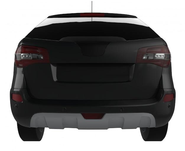 Carro compacto crossover preto