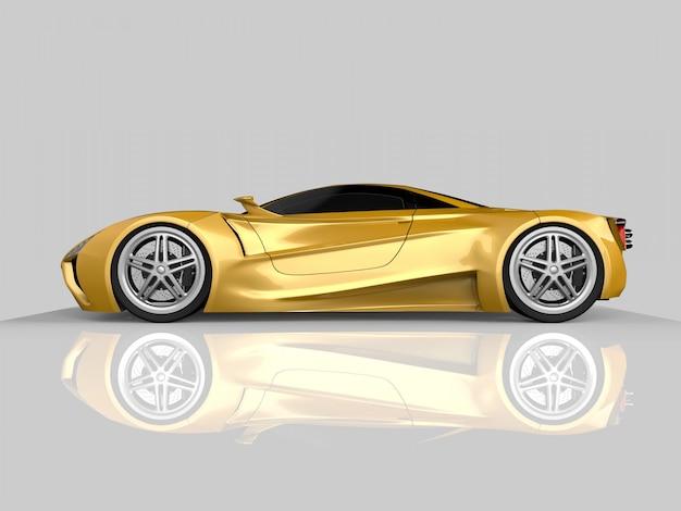 Carro-conceito de corrida amarelo. imagem de um carro