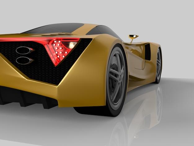 Carro-conceito de corrida amarelo