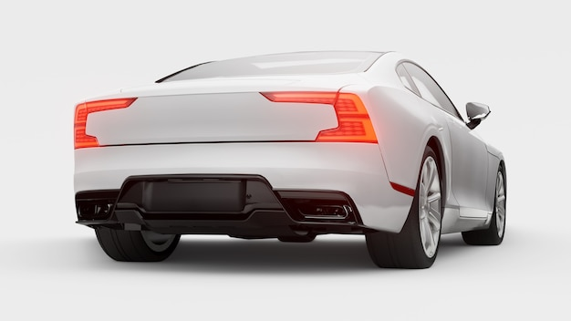 Carro conceito esportivo cupê híbrido plug-in premium