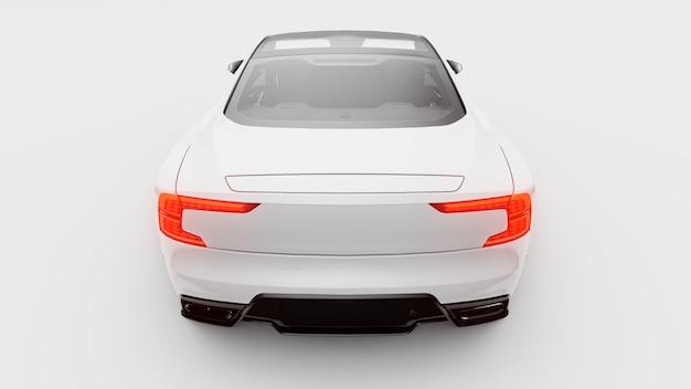Carro-conceito esportivo cupê premium plugin híbrido tecnologias de transporte ecológico carro branco