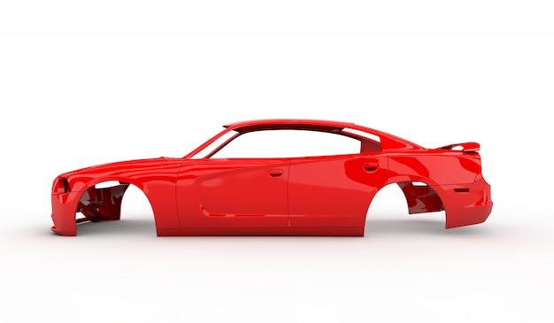 Carro corpo vermelho