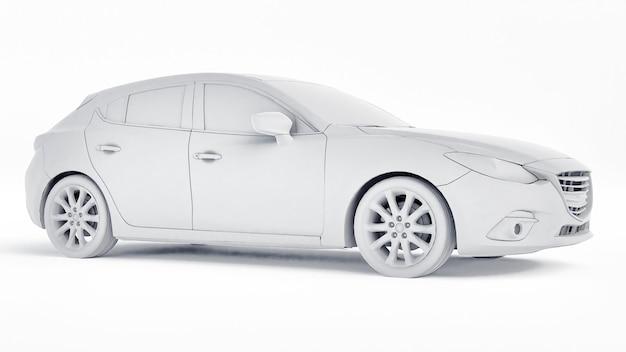 Carro cty com superfície em branco para renderização 3d de design criativo
