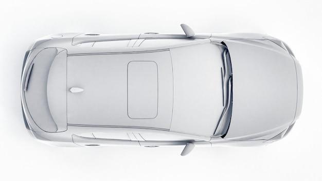 Carro cty com superfície em branco para seu design criativo. renderização 3d.